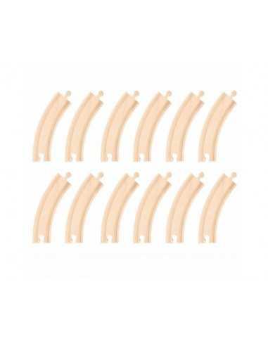 Bigjigs Rail Long Curves (Pack of 12)