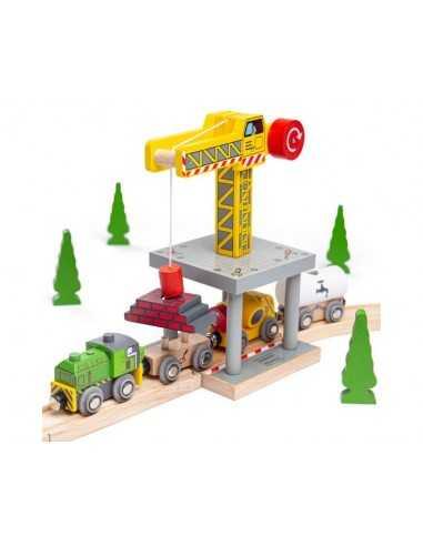 Bigjigs Rail Big Yellow Crane