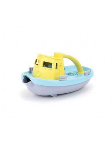 Green Toys Tugboat-Light Yellow