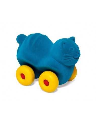 Rubbabu Aniwheels Cat-Medium (Turquoise)