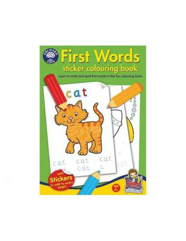 Orchard Toys First Words Colouring Book
