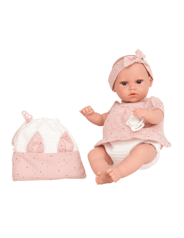 Arias 33cm Doll Nia with Bag-Pink
