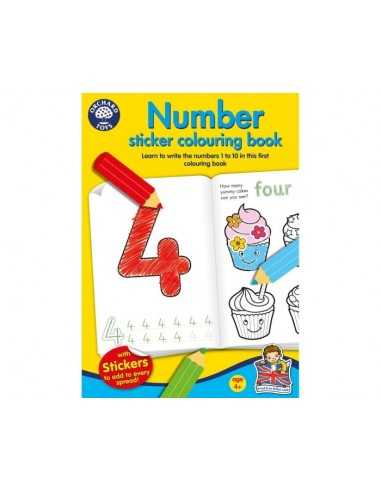 Orchard Toys Number Colouring Book