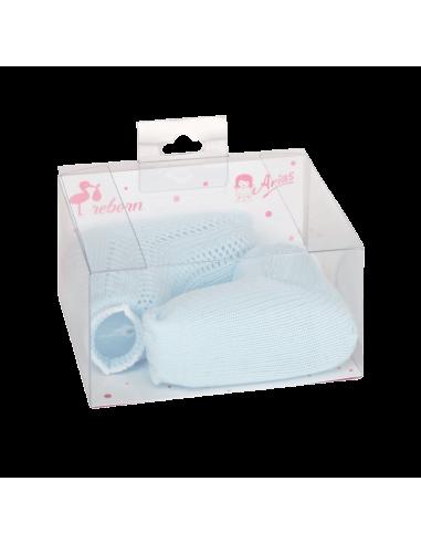 Arias Socks for a Reborn 40-45cm-Blue