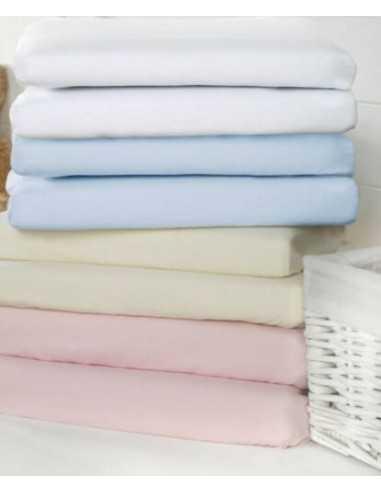 Bizzi Growin Pack Of 2 Pram Sheet-Pink