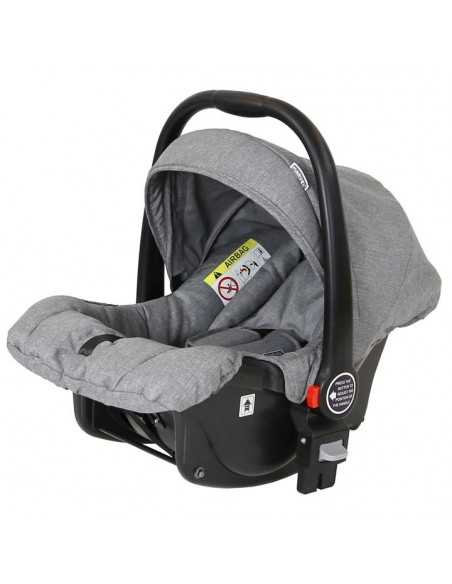 Marvel 3in1 Pram-Dove Grey Travel System Changing Bag + Isofix Base + Luxury Carrycot + Car Seat+ x2 Raincovers + x2 Footmuffs Isafe