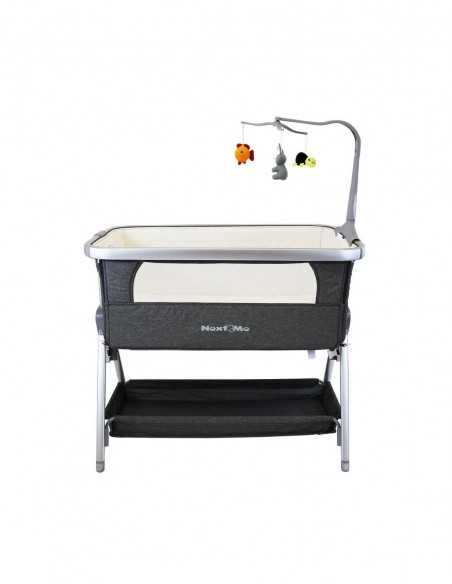 Isafe 3in1 Pram Travel System + Next To ME Bedside Baby Crib + Baby Bouncer Rocker-Grey Isafe