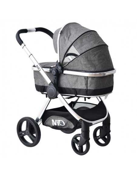 Isafe Mio All In One 3in1 Pram System-Harmony + Next To ME Bedside Baby Crib + Baby Bouncer Rocker Isafe