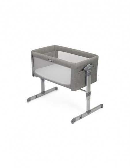 Bebecar Pack Stylo XL + Lie Flat Car Seat & LA3 Kit-Silver Grey + Roomie Glide Side Sleeping Crib + Serina 2in1 Swing/Rocker Bebecar