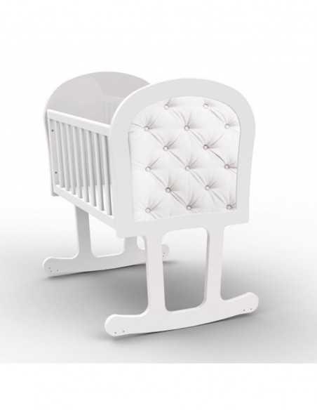 Bebecar Via+ Combination Pram-Vanilla + Trama Crib With Mattress + Moses Basket Bebecar