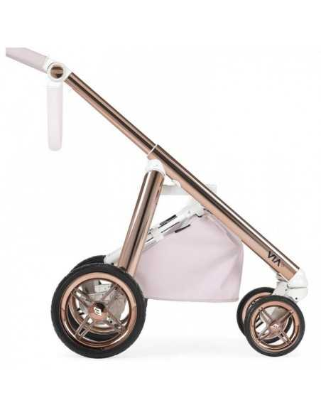 Prive Via+ 3in1 Combination Pram + Raincover & LA3 Safety Kit-Pink Shimmer + Trama Crib With Mattress + Serina 2in1 Swing/Rocker Bebecar