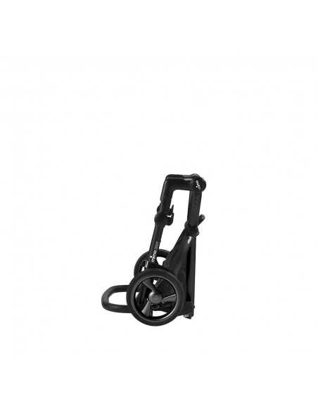 Mima Xari 3in1 Black Chassis Pushchair-Black Flair + Slimfit LX Group 0+/1/2/3 Car Seat + Compact Travel Cot Mima